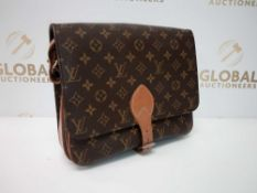 RRP £1700 Louis Vuitton Cartouchiere Gm Brown Coated Canvas Shoulder Bag (Aa03065) Grade B (