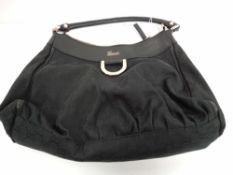 RRP 1250 Gucci D Ring Hobo Shoulder Bag In Black (Aao4650) Grade A (Appraisals Available Upon