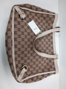 RRP £1600 Gucci Abbey Tote Shoulder Bag Biege/Brown Ivory Leather (Aan9862) Grade A (Appraisals