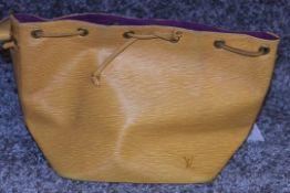 RRP £1,200 Louis Vuitton Noe Yellow Shoulder Bag, Epi Yellow Calf Leather 24X26X18Cm (Production