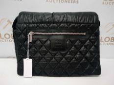 RRP £2690 Chanel Coco Cocoon Messenger Black Canvas Shoulder Bag (Aao7781)Grade A (Appraisals