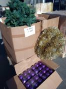 RRP £750 Pallet To Contain Christmas Accessories To Include Santa, Christmas Tree With Lights, Baubl