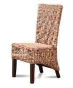 RRP £100 Boxed Outdoor Rattan Dining Chair With Da