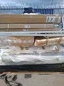 Combined RRP £1000 Pallet To Contain Headboards Table Bed Base And Part Lot Drawers