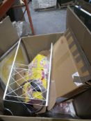Combined RRP £1000 Pallet To Contain Curtains Mirror Kitchenware Baby Gates And Dog Bed