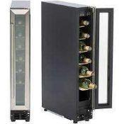 RRP £170 Boxed Hostess Hw07Mc Stainless Steel 7 Bottle Wine Cooler.