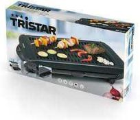 RRP £100 Boxed Tristar Bq-2818 Electric Barbecue Grill Table Model