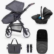 RRP £895 Boxed Silver Cross British Design Pursuit Stroller In Colourway Charcoal Black