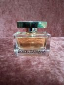 RRP £80 Unboxed 75Ml Tester Bottle Of Dolce & Gabbana The One Eau De Parfum Ex-Display