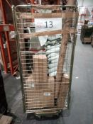 Combined RRP £400 Cage To Contain Garden Accessories, Candles, Clothes Storage Bags, Bins, Hats