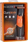 RRP £100 Lot To Contain 4 Boxed Remington Durablade Shaver For Trim, Shave And Style