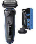 RRP £130 Boxed Braun 5 Series Easy Clean Clean And Close Beard Trimmer