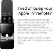 Combined RRP £200 Lot To Contain Four Boxed Apple Tv Total Mount Pro Remote Holders