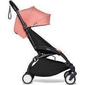 RRP £340 Boxed Babyzen Yo-Yo2 Black/Ginger Stroller With Colour Pack