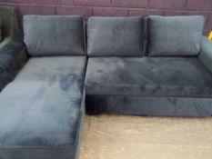 | 1x | Made.com Aidian Left Hand Facing Corner Storage Sofa Bed Regal Blue RRP £999 | SKU MAD-SOFAAN