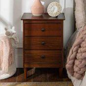 RRP £200 Boxed John Lewis Medan 3 Draw Bedside Table