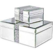 RRP £30 Julia McDonald Glass Two Piece Jewellery Box
