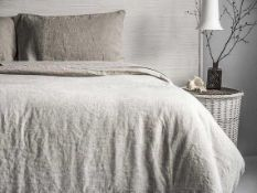 RRP £100 Bagged John Lewis Washed Linen Duvet Cover King-Size
