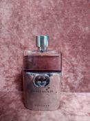 RRP £70 Unboxed 90 Ml Tester Bottle Gucci Guilty Platinum Eau De Toilette Spray Ex-Display
