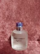RRP £50 Unboxed 125 Ml Tester Bottle Of Dolce And Gabbana Light Blue Eau De Toilette Spray Ex-Displa