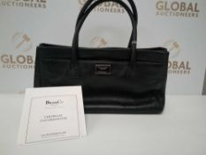 RRP £3200 Chanel Mademoiselle Cefr Tote Black Calf Leather Shoulder Bag (Aao8118)Grade Ab (