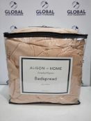 Combined RRP £140 Lot To Contain Two Bagged And Zipped Alison At Home Everyday Bedspread In Colours
