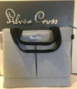 RRP £100 Boxed Silver Cross British Design Pursuit Changing Bag In Charcoal Black