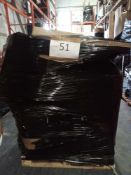 Combined RRP £1000 Pallet To Contain Part Vacuums Part Lot Furniture Lamps Chair Seats Reed Diffuser