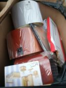Combined RRP £750 Pallet To Contain Lampshades, Bathroom Accessories, Toys, Laundry Accessories, Doo