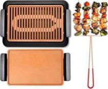 RRP £50 Boxed Each Electric Smoke-Less Grill By Gotham Steel