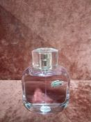 RRP £60 Unboxed 90 Ml Tester Bottle Of Lacoste L.12.12 Pour Elle Eau De Toilette Spray Ex-Display