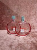 RRP £80 Lot To Contain 2 Unboxed 50Ml Testers Of Hugo Boss Woman Eau De Parfum Spray Ex-Display