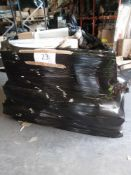 Combined RRP £1000 Pallet To Contain Part Lot Furniture, Assorted Bins, Vacuum Cleaner