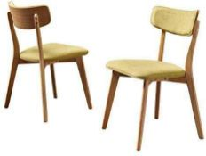 RRP £140 Boxed Green Tea 2Pcs Dining Chair