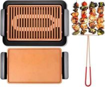 RRP £50 Each Unboxed Gotham Steel Copper Non Stick Grills With Drip Trays