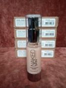RRP £280 Gift Bag To Contain 8 Brand New Boxed Urban Decay All Nighter Full Coverage Longwear Liquid