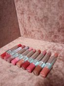 RRP £250 Gift Bag To Contain 10 Clinique Liquid Lipstick Testers In Assorted Shades