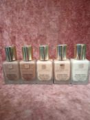 RRP £150 Gift Bag To Contain 5 Estee Lauder Double Wear Stay In Place Make-Up Spf 10 Testers