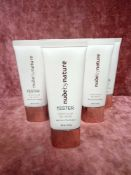 RRP £160 Gift Bag To Contain 8 Brand New Tester Of Nude By Nature Sheer Glow Bb Cream In Assorted Sh