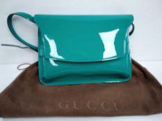 RRP £1500 Gucci Horsebit Shoulder Flap Green Calf Leather Shoulder Bag (Aa6655) Grade A (