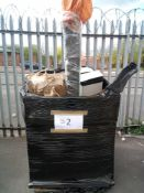 Combined RRP £550 Pallet To Contain Multiple Napkins And Bath Mats Also Includes Various Bins Furnis
