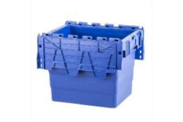 RRP £150 Lot To Contain 10 Blue Tote Boxes With Attached Lid