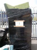 Combined RRP £1500 Pallet To Contain Part Lot Designer Green Velvet Corner Sofa