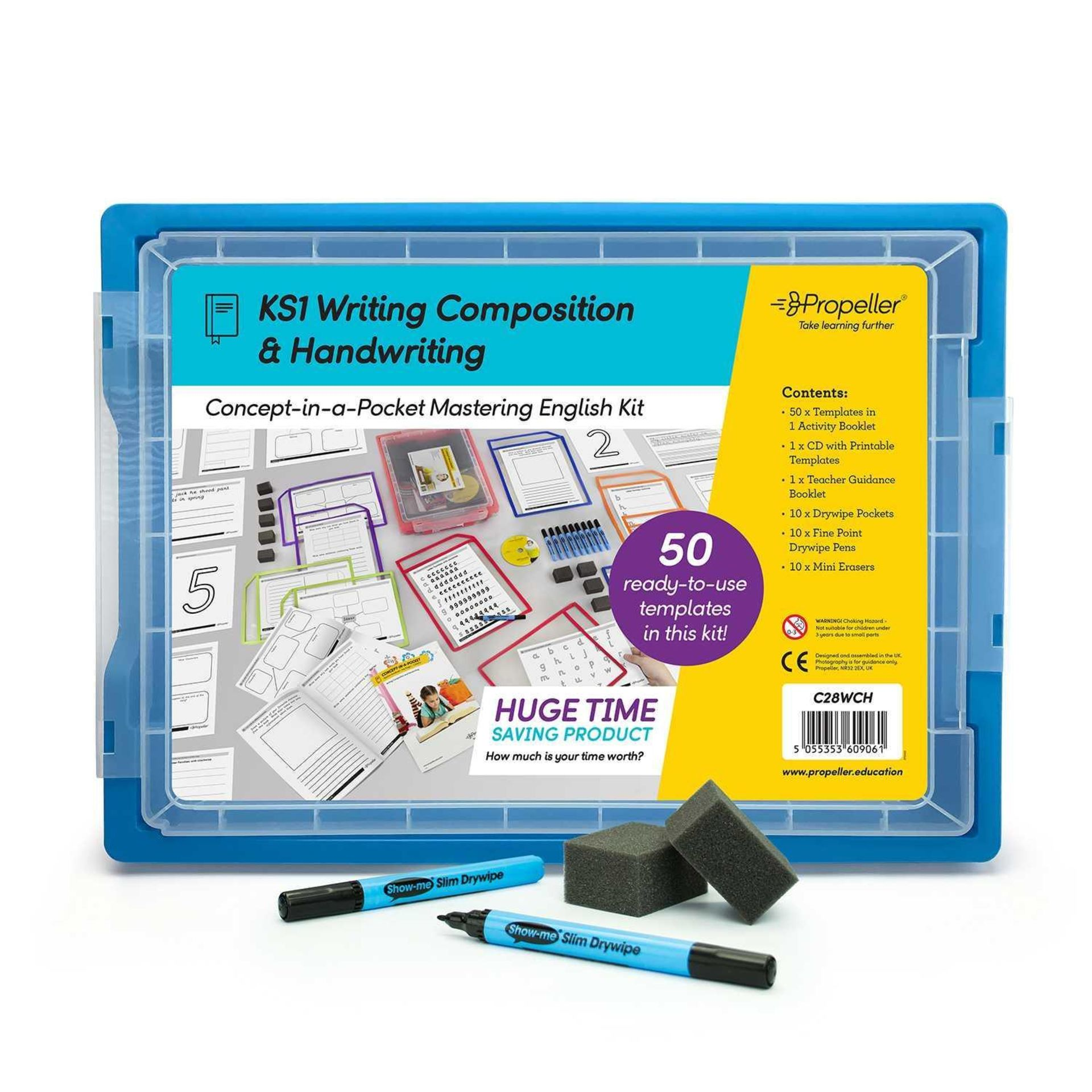 RRP £210 Lot To Contain 3 Brand New Propeller Learning Concept-In-A-Pocket Handwriting And Writing C