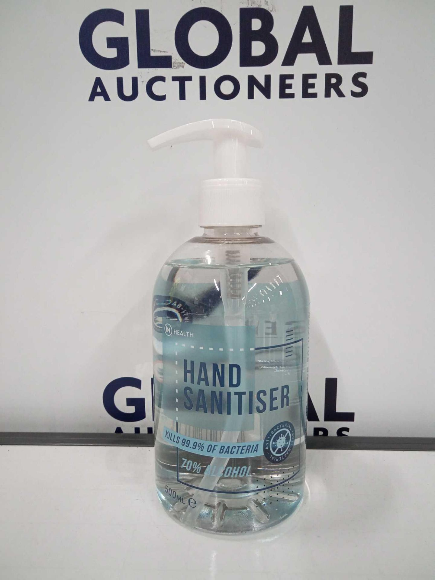 RRP £500 Lot To Contain 60 Boxed Brand New Hand Sanitiser Anti Bacterial Hand Solution 500Ml Each
