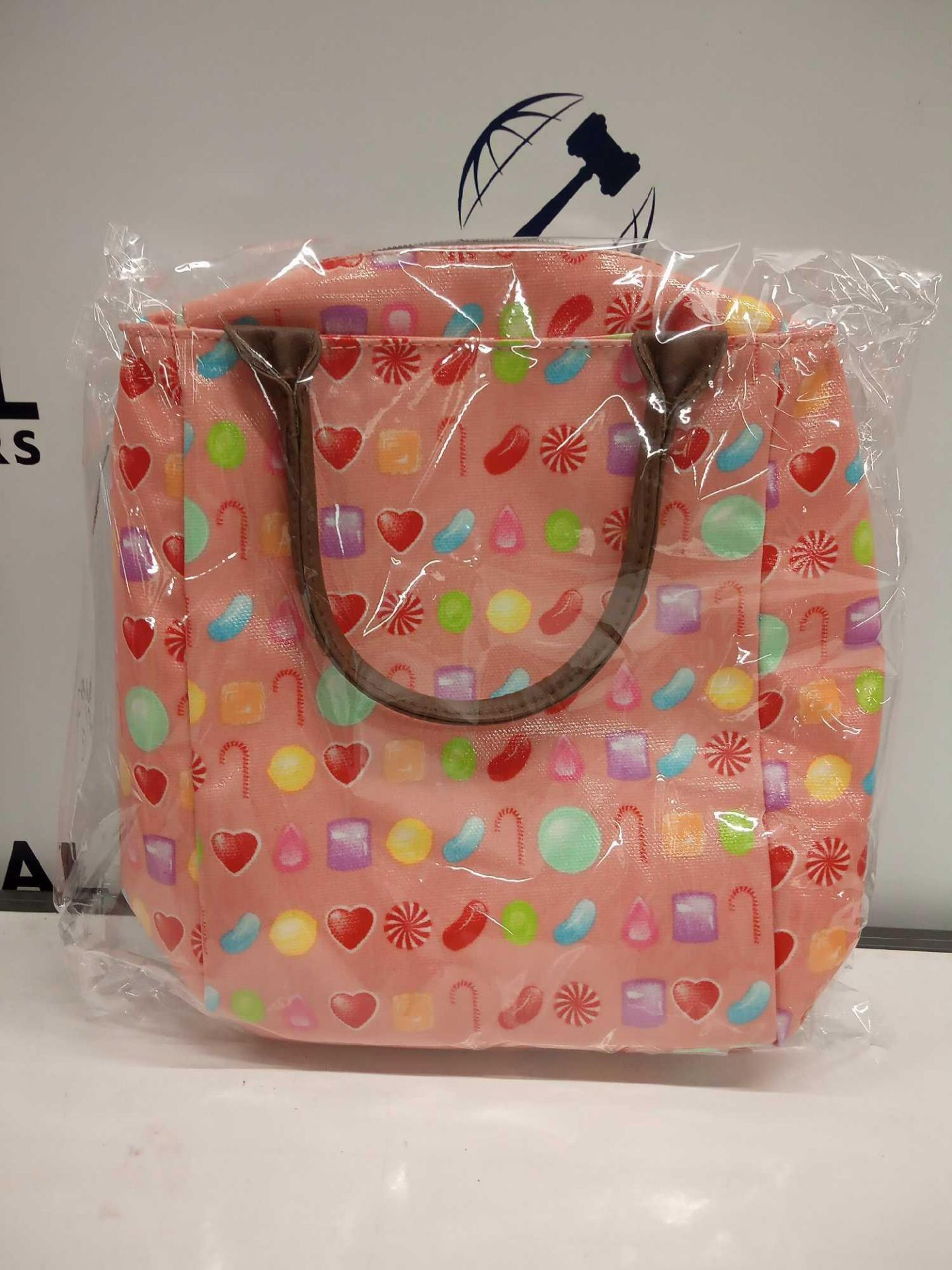RRP £300 Lot To Contain 60 Brand New Bagged And Sealed Pink Candy Lunch Cooler
