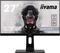 "RRP £230 iiyama 27"""" G-Master Silver Crow FreeSync Gaming Monitor"