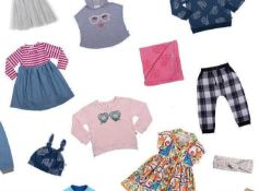 RRP £550 Lot To Contain 60 Assorted High End Fashion To Include Both Children's And Baby Tops And Tr
