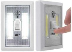 RRP £240 Lot To Contain 48 Brand New Boxed Install Anywhere Inhome 140 Lumens Wireless Led Switch Li