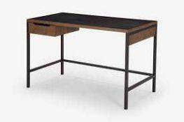 1 Made.Com RRP £249 Depot Desk Dark Stain Pine Wood Dskdpt005Bro-Uk